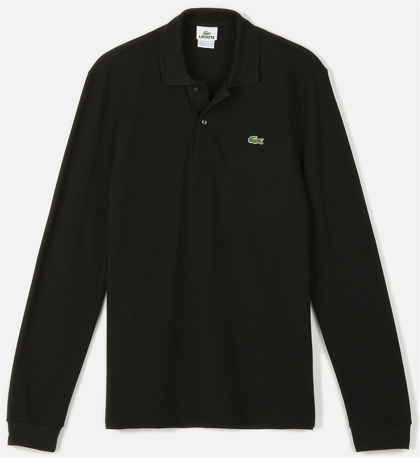 25263a546 Picture of Lacoste Long Sleeved Polo Shirt Original L.12.12 Black