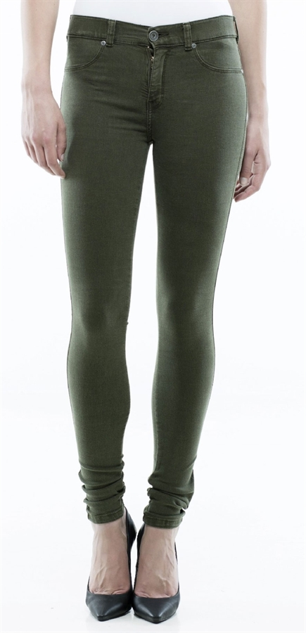 Picture of Dr Denim Jeggings Plenty Army Green - Dr Denim Jeggings Plenty Army Green Fredericks Cleveleys