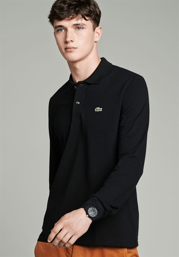 1fdff0a50 ... Picture of Lacoste Long Sleeved Polo Shirt Original L.12.12 Black