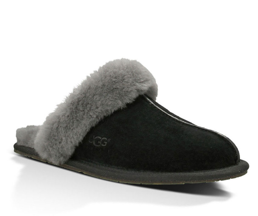 ugg black slippers uk