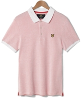 Picture of Lyle & Scott Polo Shirt Grid Texture White