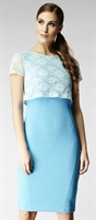 Picture of Hybrid Dress Margret Mint/Azure Blue