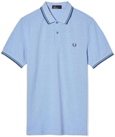 Picture of Fred Perry Polo Shirt M3600 Light Smoke Oxford