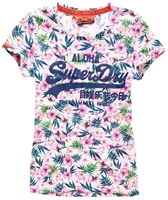 Picture of Superdry Ladies T-Shirt Vintage Logo Tropical Ice Marl