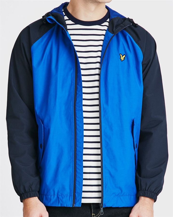 lyle scott jacket contrast sleeve anorak lake blue fredericks cleveleys. Black Bedroom Furniture Sets. Home Design Ideas