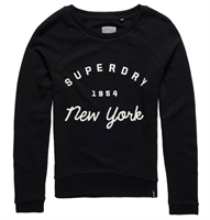 Picture of Superdry Ladies Sweatshirt Applique Raglan Crew Black