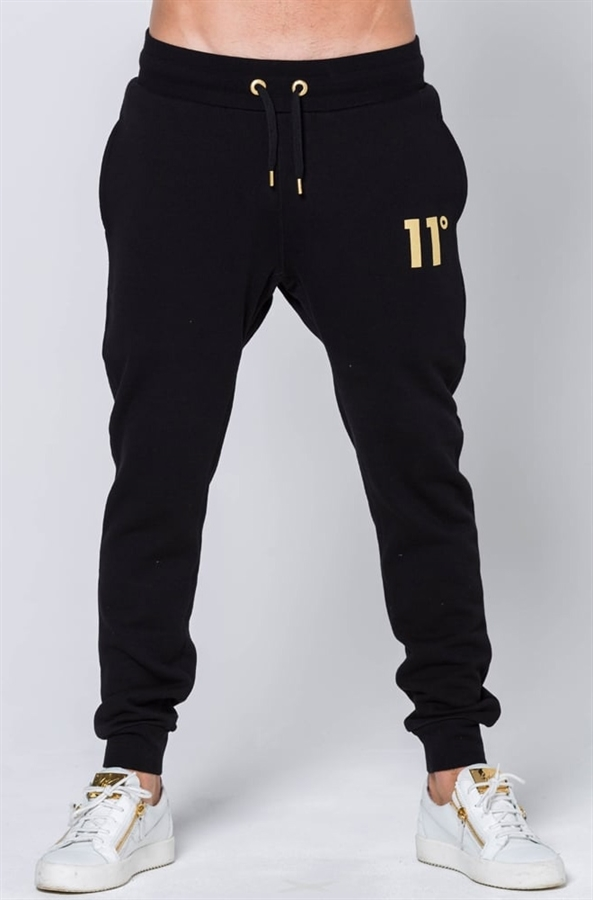 11 Degrees Joggers Limited Edition Gold Logo Black