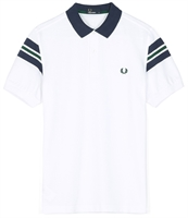 Picture of Fred Perry Polo Shirt Bomber Sleeve Pique White