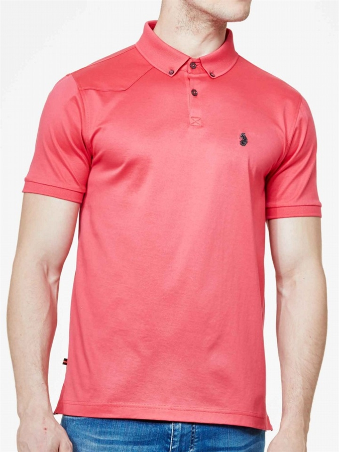 Luke 1977 polo shirt stan poole lux pink fredericks for Luke donald polo shirts