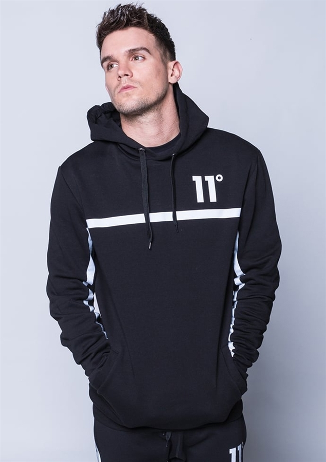11 Degrees Hoody Reflect Pull Over Hoodie Black