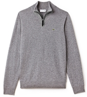 Picture of Lacoste Knitwear Zippered Stand-Up Collar Wool Jumper Money Chine