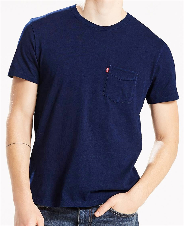 ca3a486e Levi's T-Shirt Sunset Pocket Tee Saturated Indigo | Fredericks Cleveleys