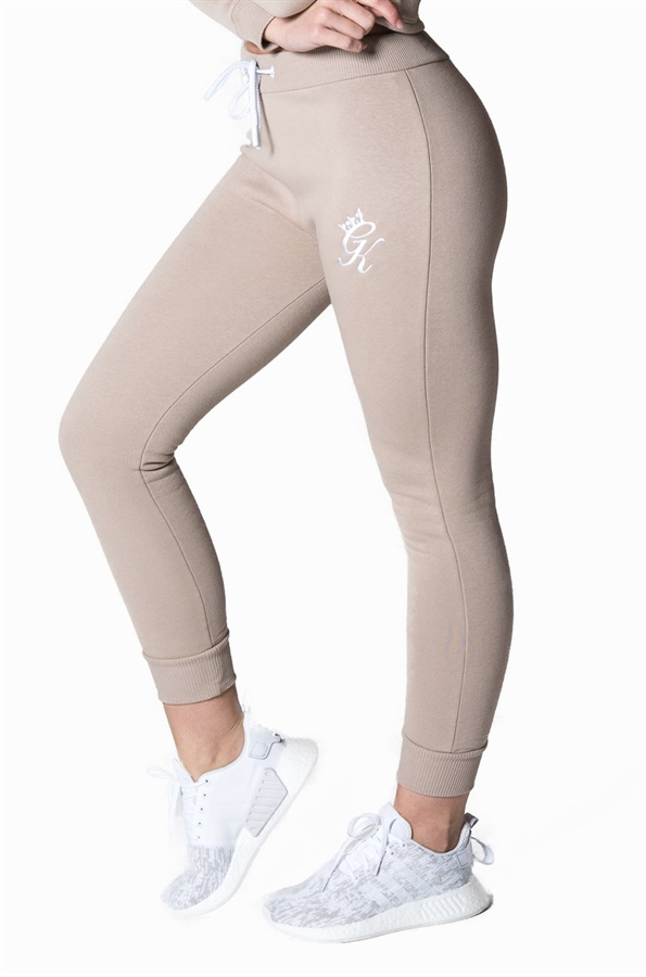 Picture of Gym King Women s GK Jenner Joggers Mocha White 7865ad3b6
