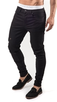 Picture of Gym King Jeans GK Skinny Denim Rip And Repair Black