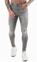 Picture of Gym King Jeans GK Skinny Denim Distressed Mid Grey 001