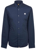 Picture of Pretty Green Shirt Slim Fit Polka Dot Navy