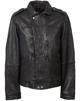 Picture of Pretty Green Jacket Leather Biker Black