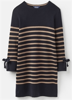 Picture of Joules Knitwear Brianne Navy Camel Tunic