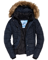 Picture of Superdry Ladies Jacket Glacier Biker Luxe Navy
