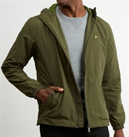 Picture of Lyle & Scott Jacket Microfleece Lined Zip Through Woodland Green