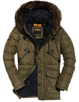 Picture of Superdry Jacket Chinook Parka Khaki