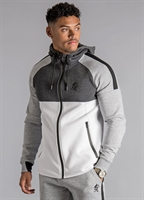 Picture of Gym King Hoody GK Lombardi Zip Through Tracksuit Top Grey Marl