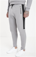 Picture of Jameson Carter Joggers Insert Panel Tracksuit Pants Silver Grey