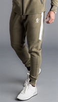Picture of Gym King Joggers GK Lombardi Tracksuit Bottoms Olive/Black/White