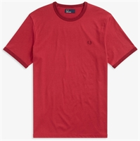 Picture of Fred Perry T-Shirt Ringer Rich Red