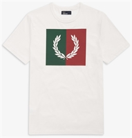 Picture of Fred Perry T-Shirt Split Laurel Wreath Snow White