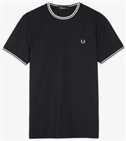 Picture of Fred Perry T-Shirt Twin Tipped Black