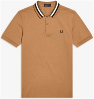Picture of Fred Perry Polo Shirt Bomber Stripe Caramel