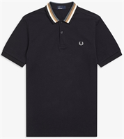 Picture of Fred Perry Polo Shirt Bomber Stripe Black