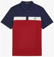 Picture of Fred Perry Polo Shirt Contrast Panel Rich Red