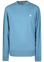 Picture of Pretty Green Knitwear Crew Neck Jumper Blue