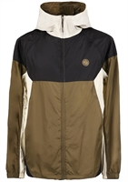 Picture of Pretty Green Jacket ZipThrough Hooded Contrast Khaki/Black