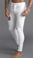 Picture of Gym King Jeans GK Skinny Denim Rip And Repair White