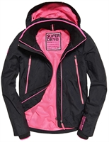 Picture of Superdry Ladies Jacket Tech Velocity Windcheater Black/Ultra Pink