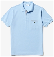 Picture of Lacoste Polo Shirt Contrast Detail Pocket Light Blue