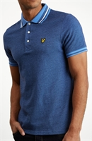 Picture of Lyle & Scott Polo Shirt Oxford Tipped Cornflower Blue