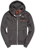 Picture of Superdry Hoody Premium Goods Racer Vintage Black Grit