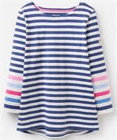 Picture of Joules Top Harbour Cream Blue Stripe