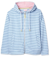 Picture of Joules Hoody Becca Blue White Stripe