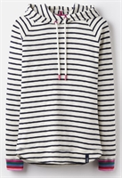 Picture of Joules Hoody Marlston Cream Navy Stripe