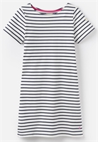 Picture of Joules Dress Riviera Cream Navy Stripe