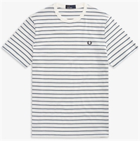 Picture of Fred Perry T-Shirt Fine Stripe Snow White