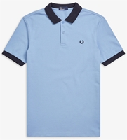 Picture of Fred Perry Polo Shirt Colour Block Sky