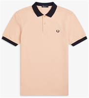 Picture of Fred Perry Polo Shirt Colour Block Apricot
