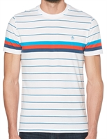 Picture of Original Penguin T-Shirt Engineered Stripe Bright White