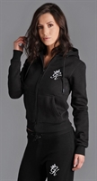 Picture of Gym King Women's GK Jenner Zip Through Hoodie Black